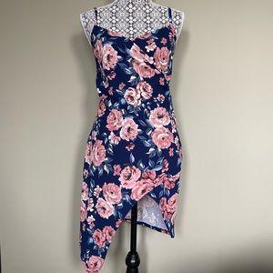Floral Wrap Top Dress